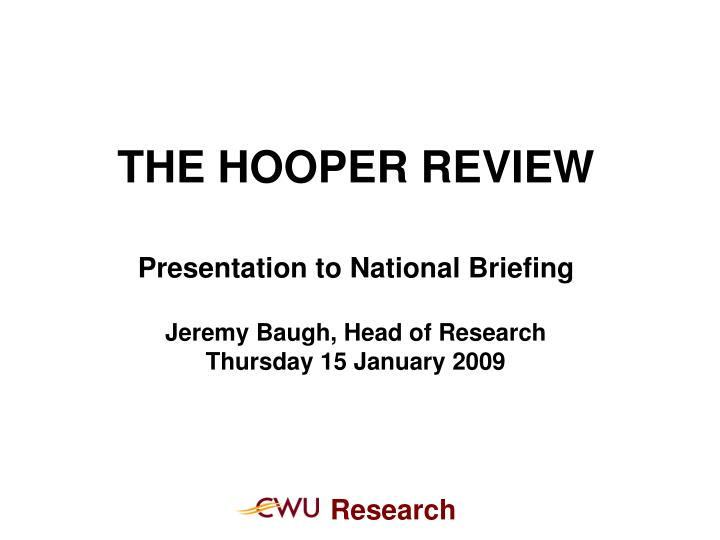 THE HOOPER REVIEW