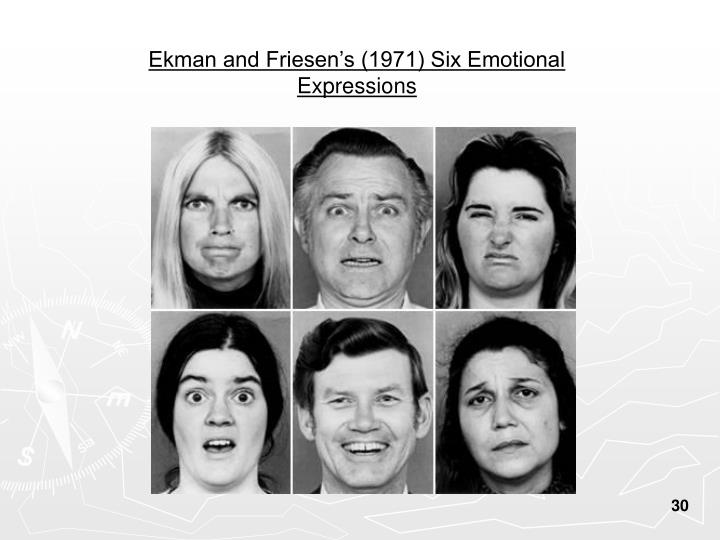 Ekman And Friesens 1971 Six Emotional Expressions