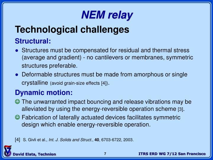 NEM relay