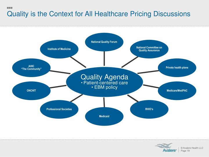 Quality is the Context for All Healthcare Pricing Discussions