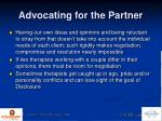 advocating for the partner3