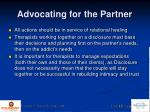 advocating for the partner4