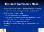 mistakes commonly made2