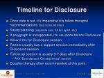 timeline for disclosure