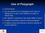 use of polygraph