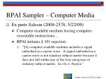 bpai sampler computer media3