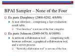 bpai sampler none of the four