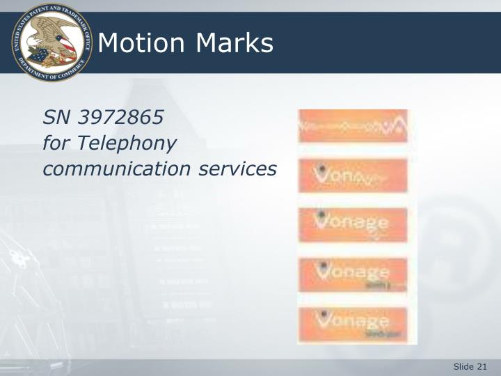 Motion Marks