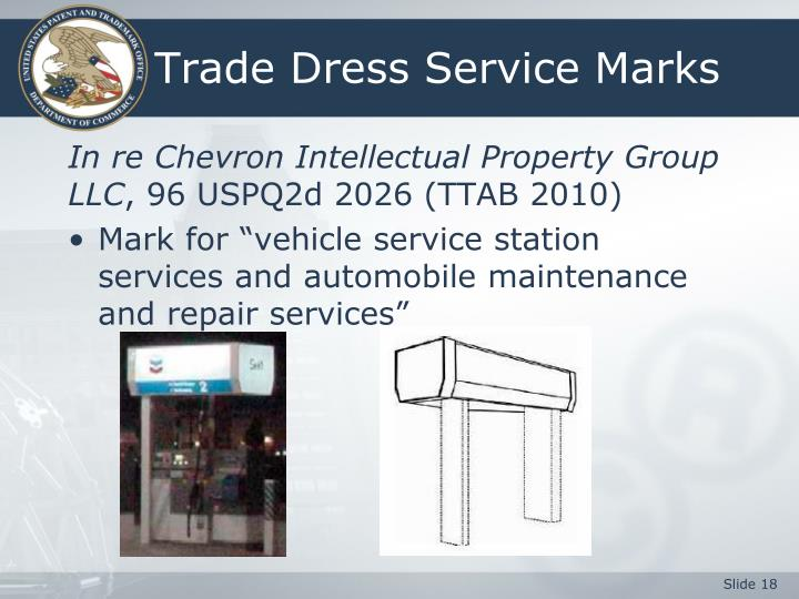 Trade Dress Service Marks