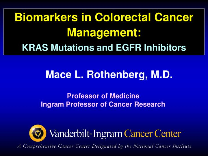 Biomarkers in Colorectal Cancer Management: