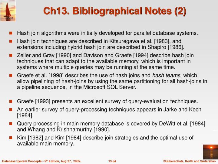 Ch13. Bibliographical Notes (2)