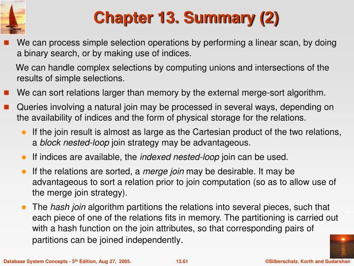 Chapter 13. Summary (2)
