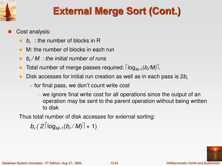 External Merge Sort (Cont.)