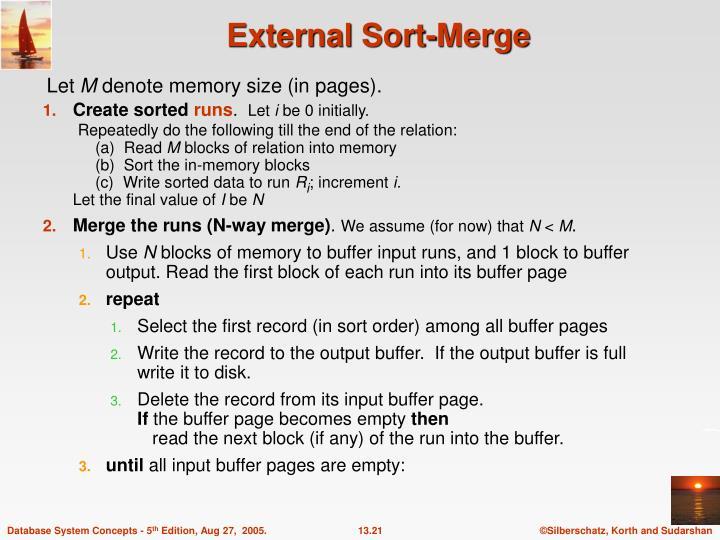 External Sort-Merge