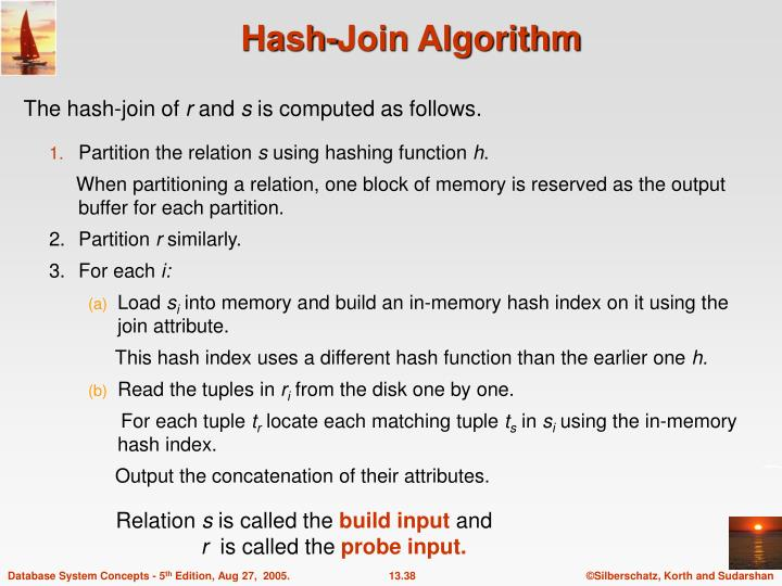 Hash-Join Algorithm