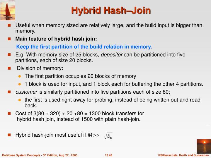 Hybrid Hash–Join