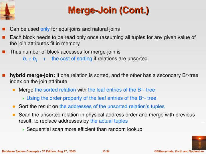 Merge-Join (Cont.)