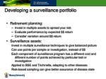 developing a surveillance portfolio