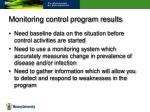 monitoring control program results