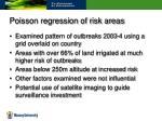 poisson regression of risk areas
