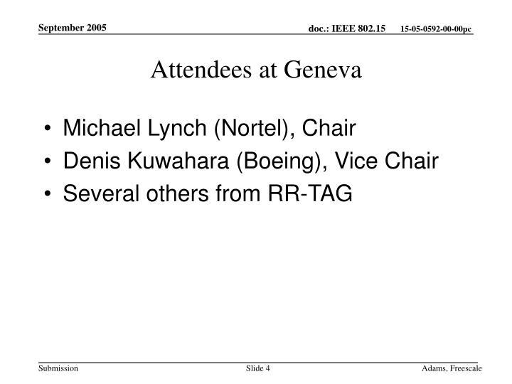 Attendees at Geneva
