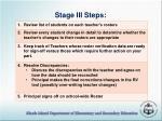 stage iii steps