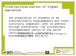 internationalisation of higher education