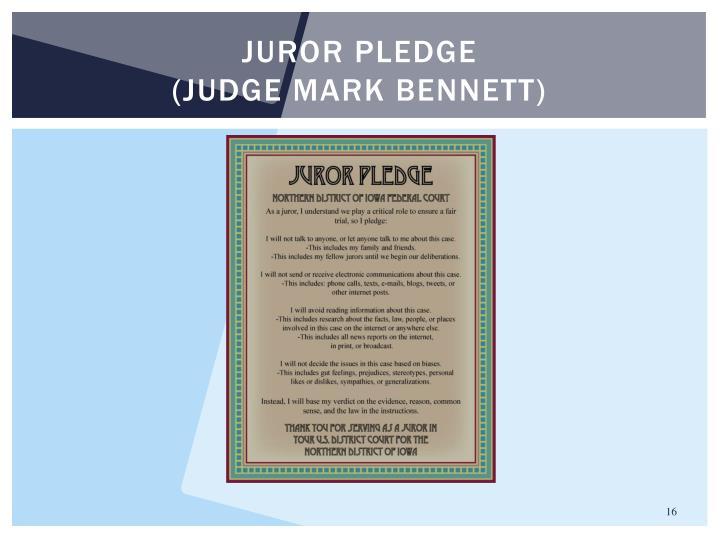 Juror pledge