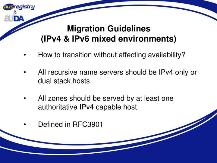 Migration Guidelines