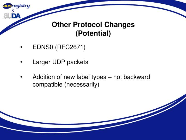 Other Protocol Changes
