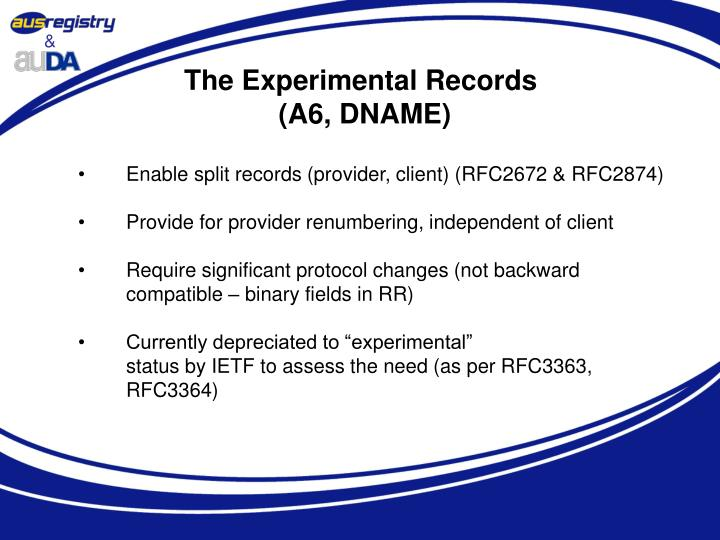 The Experimental Records