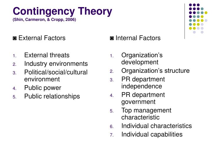an analysis of the contingency theory of accommodation and advocacy Contingency theory of strategic conflict management strategic conflict   continuum ranging from pure advocacy to pure accommodation, allowing initial  and.