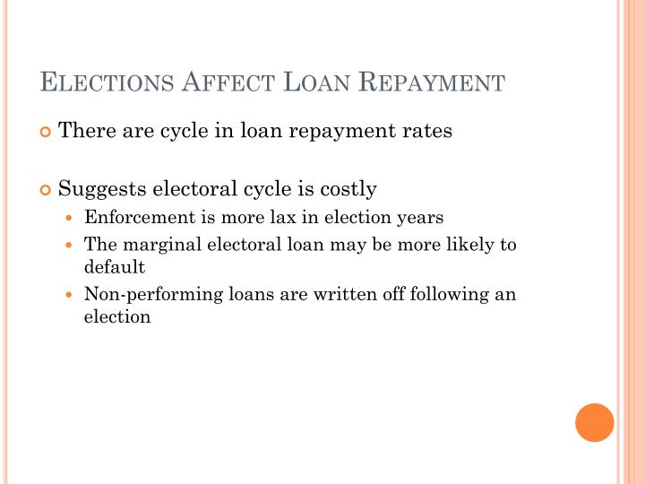 Elections Affect Loan Repayment