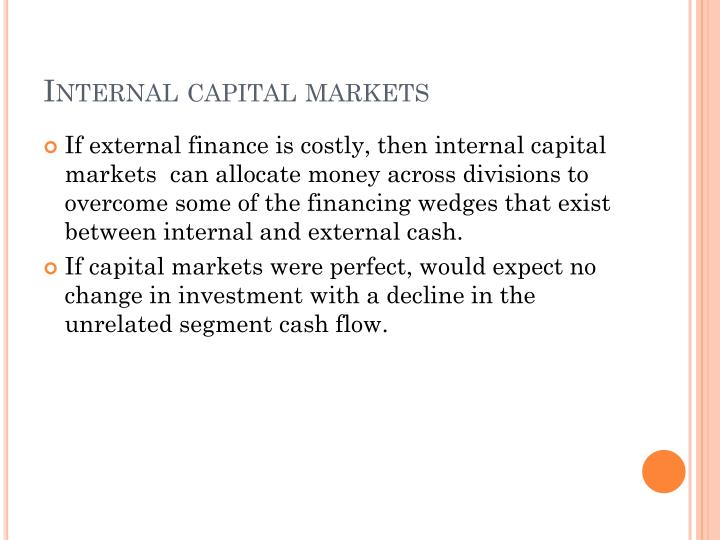 Internal capital markets