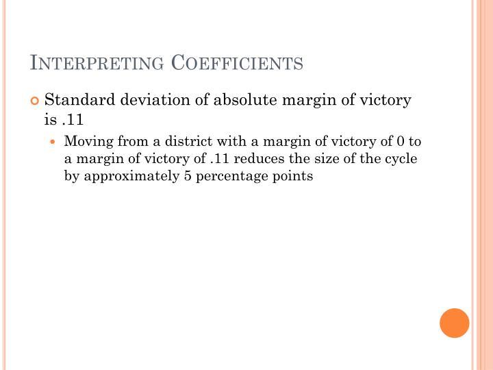 Interpreting Coefficients