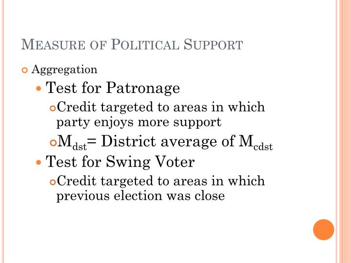 Measure of Political Support