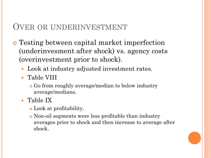 Over or underinvestment