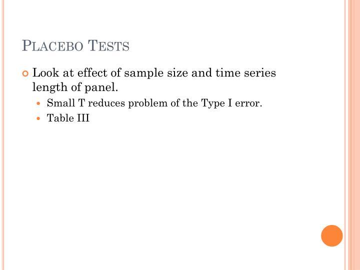 Placebo Tests