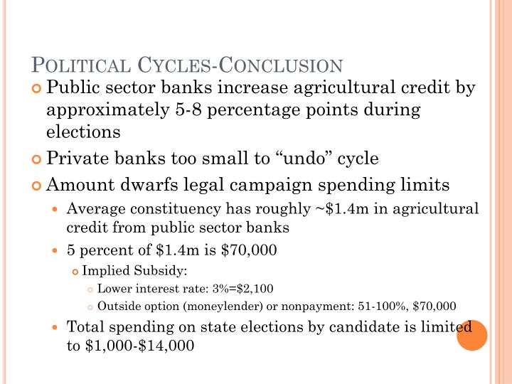 Political Cycles-Conclusion