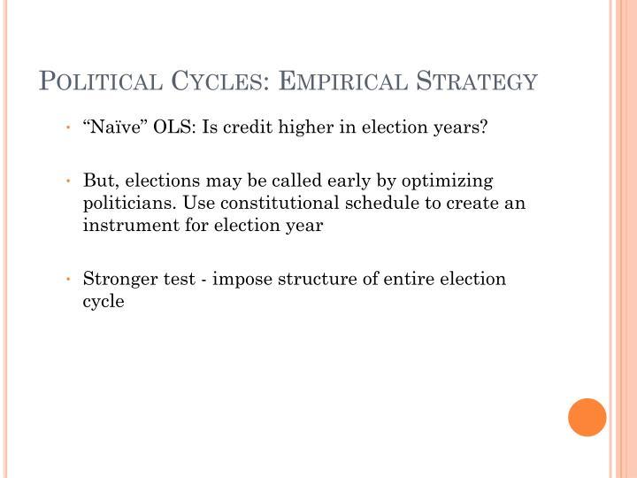 Political Cycles: Empirical Strategy