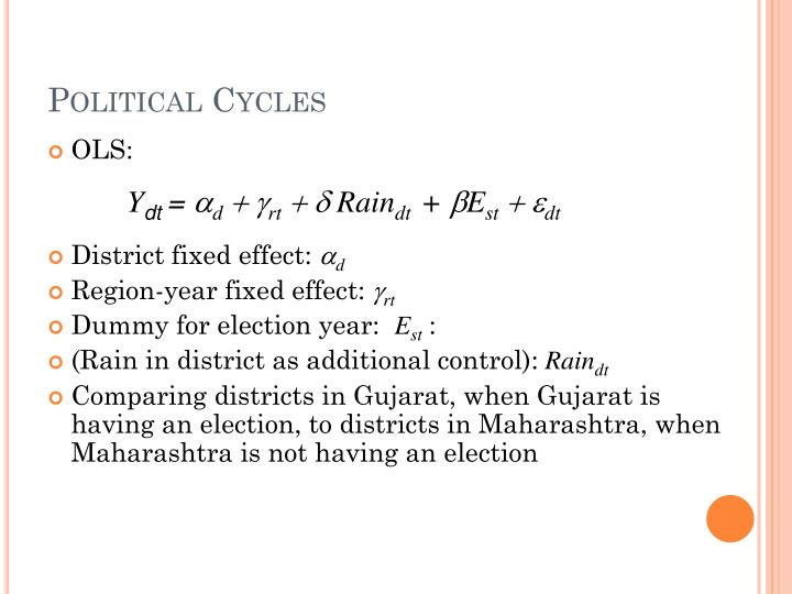 Political Cycles