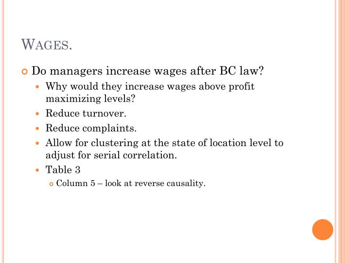 Wages.