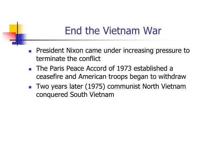 End the Vietnam War