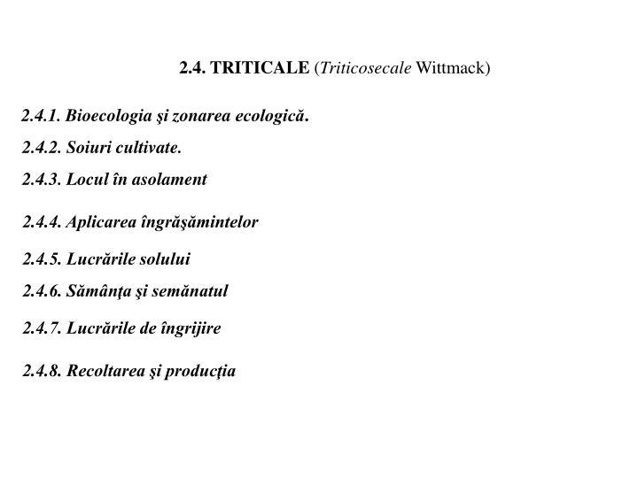 2.4. TRITICALE