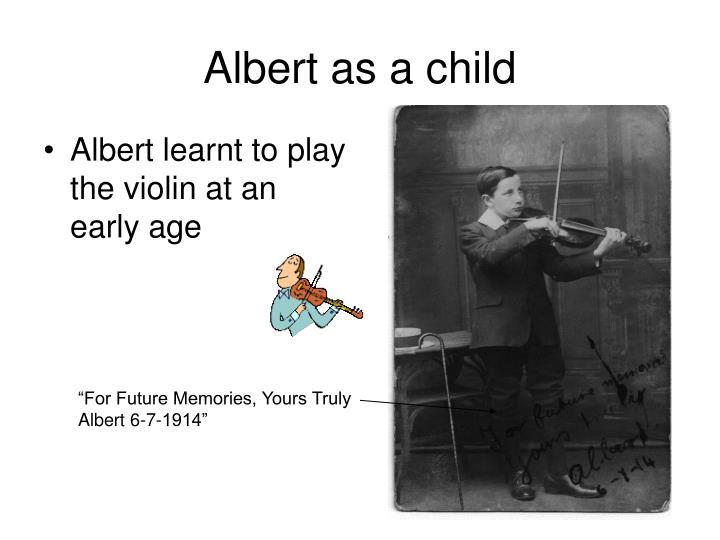 Albert as a child