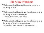 2d array problems