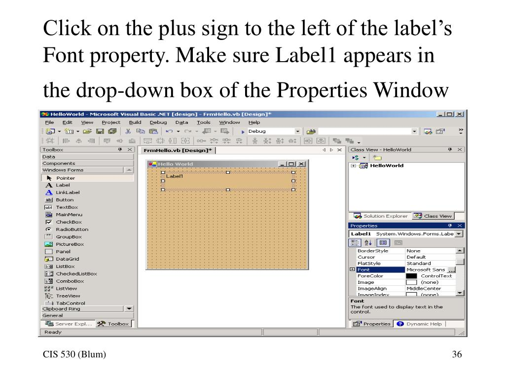 PPT - Introduction to Visual Basic  NET PowerPoint