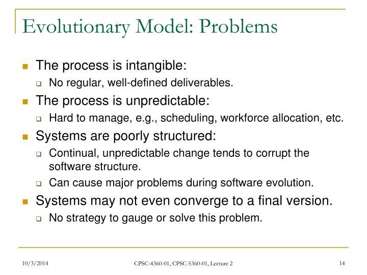 Evolutionary Model: Problems