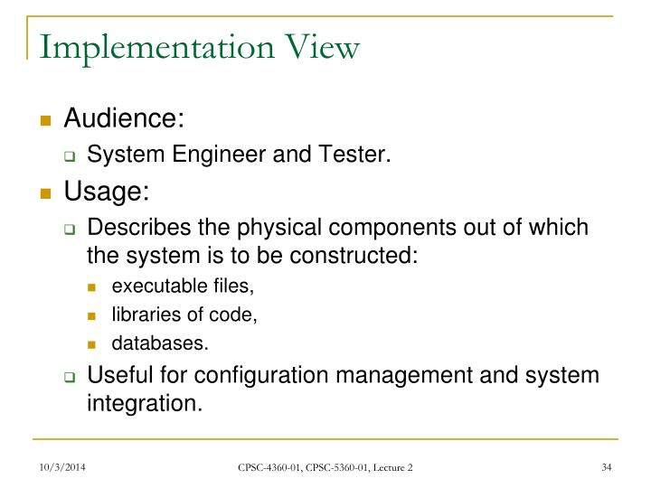 Implementation View