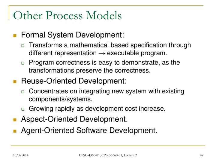 Other Process Models